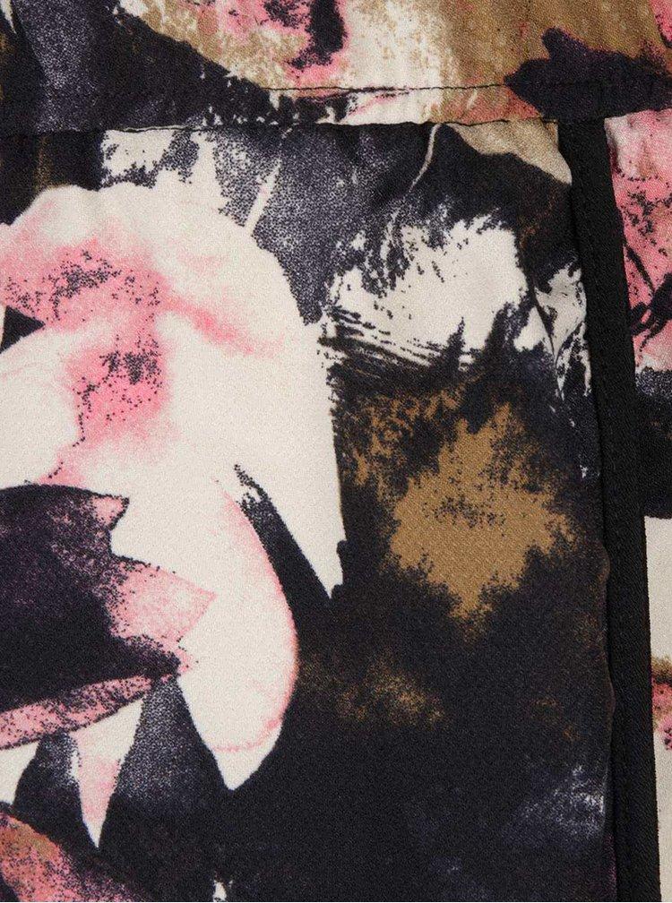 Ružovo-čierna vzorovaná minisukňa Desires Gunni