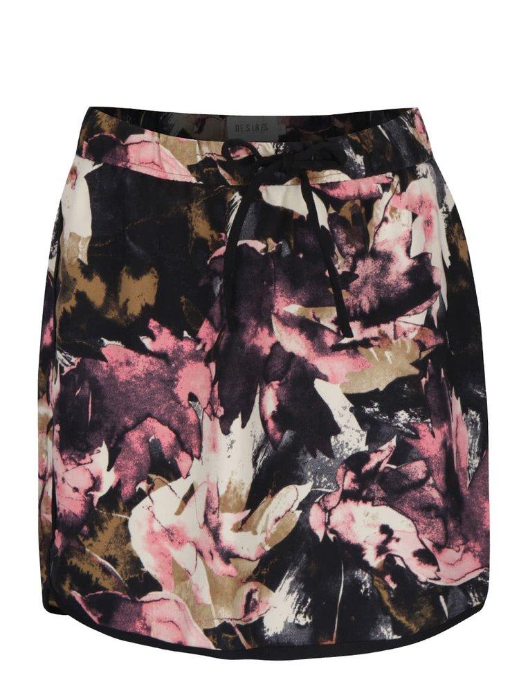 Růžovo-černá vzorovaná minisukně Desires Gunni
