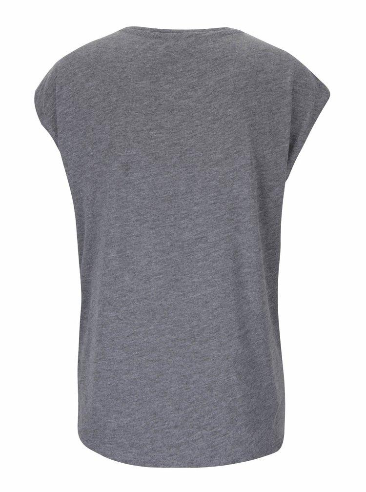 Tmavě šedé dámské tričko s aplikací Haily´s Bird