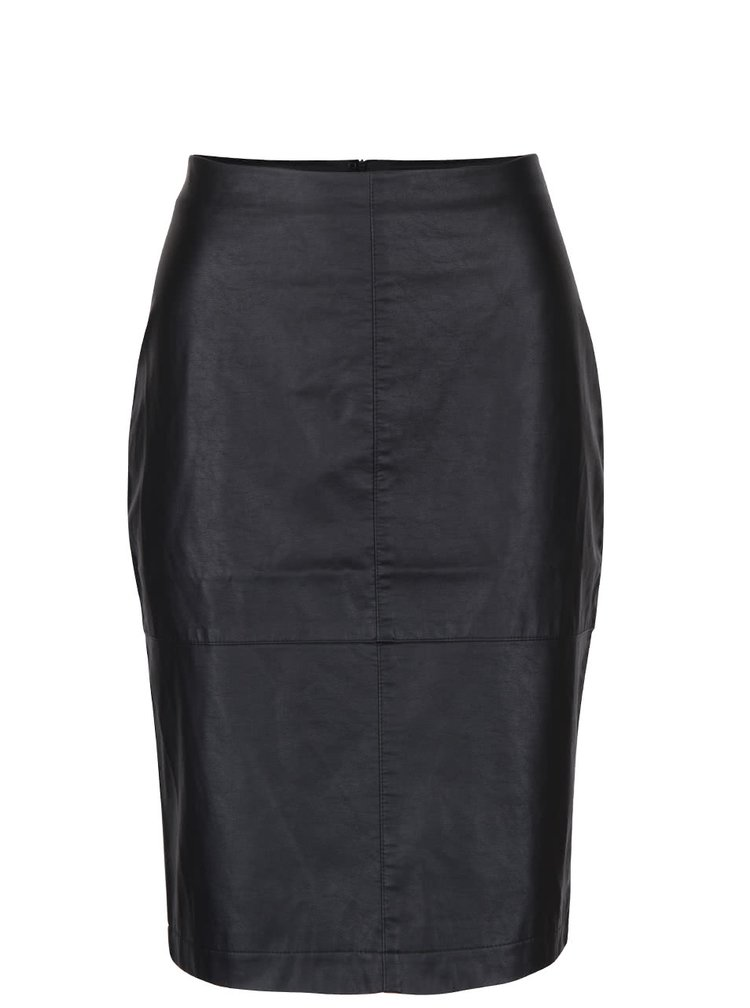 Černá koženková sukně PEP Faya