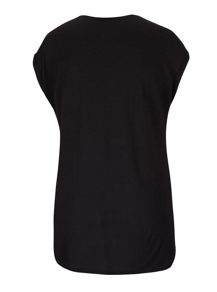 Černé tričko s aplikací Haily´s Fancy