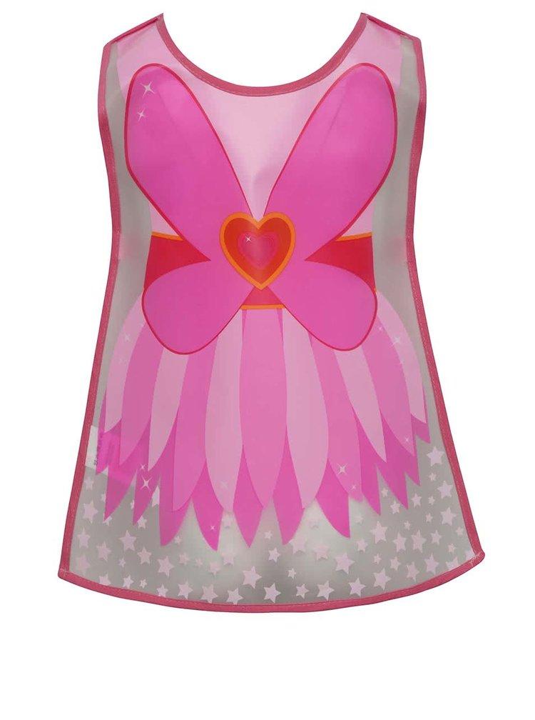 Ružová dievčenská zástera s motívom víly Cooksmart