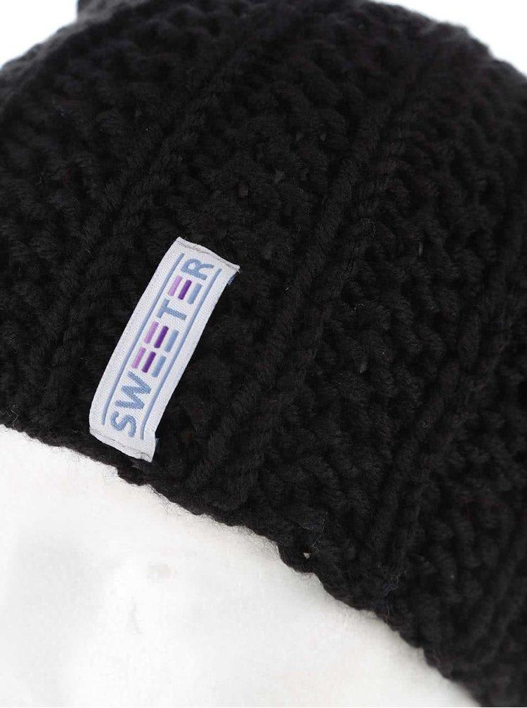"""""""Dobrá"""" čierna čapica od SWEETER"""
