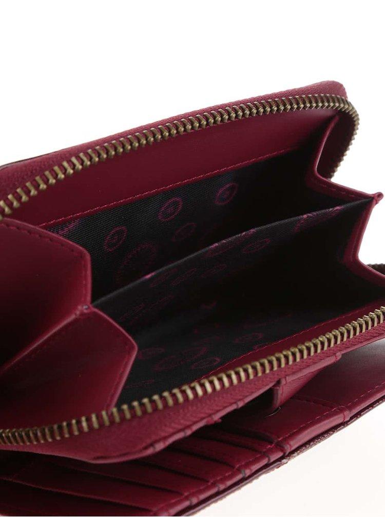 Vínová lesklá peněženka Desigual Magnetica Katia