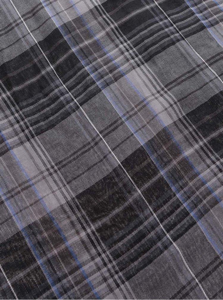 Eșarfă gri & negru s.Oliver din bumbac cu model în carouri