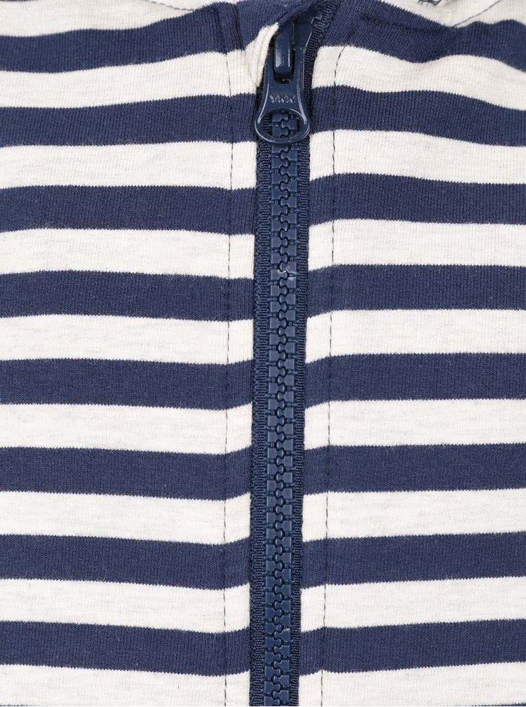 Modro-krémová klučičímikina na zip name it Soron
