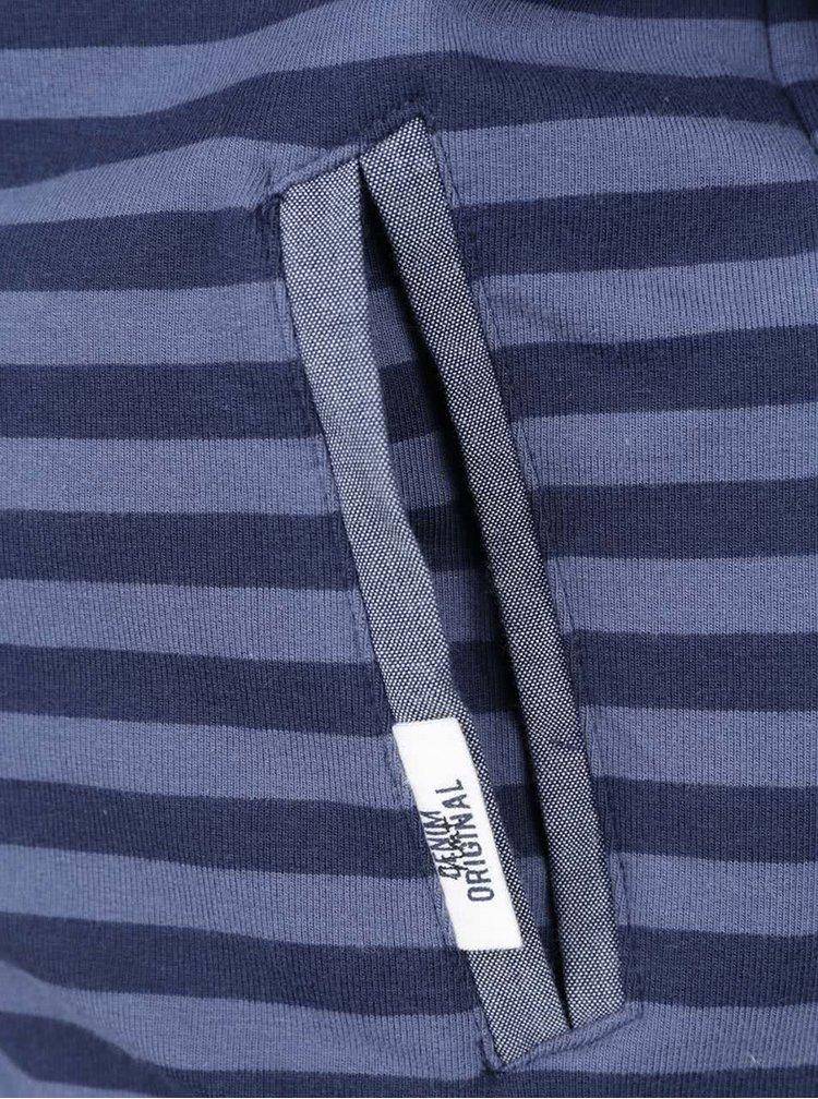 Modrá pruhovaná chlapčenská mikina na zips name it Soron