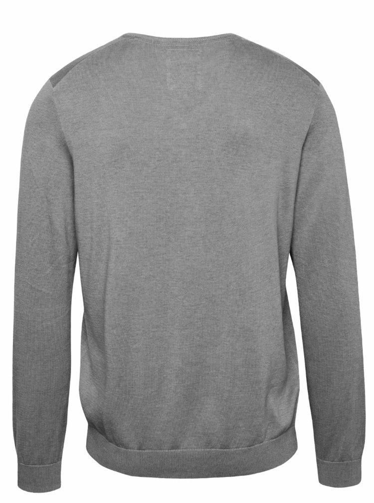 Bluza gri inchis s.Oliver din bumbac cu model discret