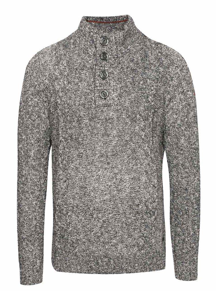 Sivý pánsky sveter na gombíky s.Oliver