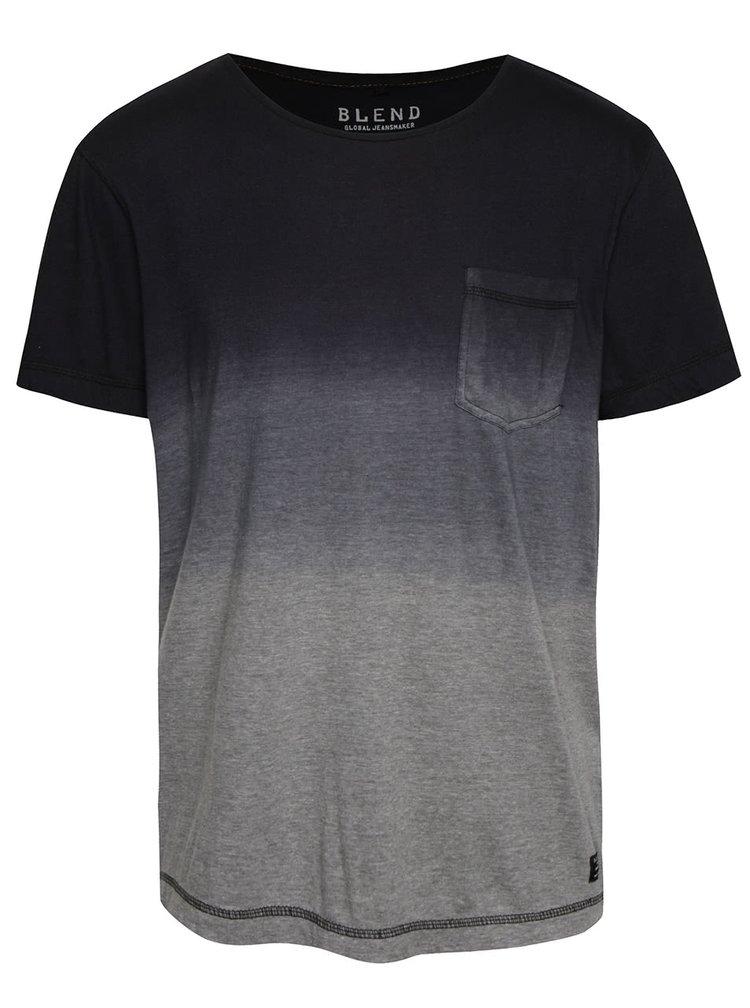 Modro-šedé triko s ombré efektem Blend