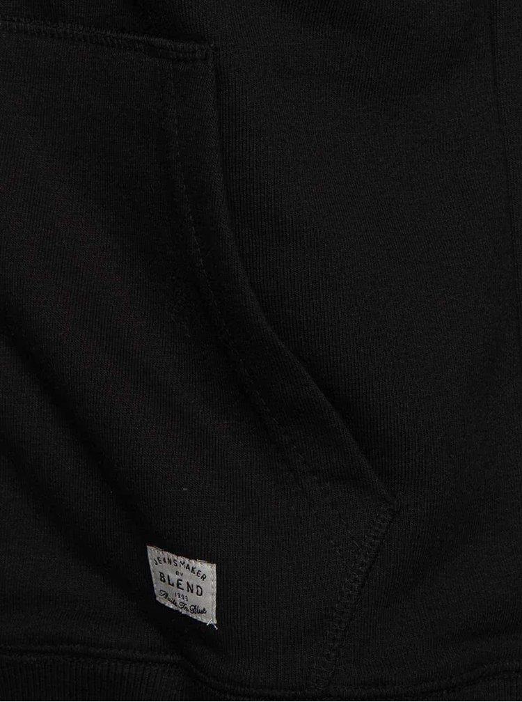 Čierna mikina s nápisom Blend