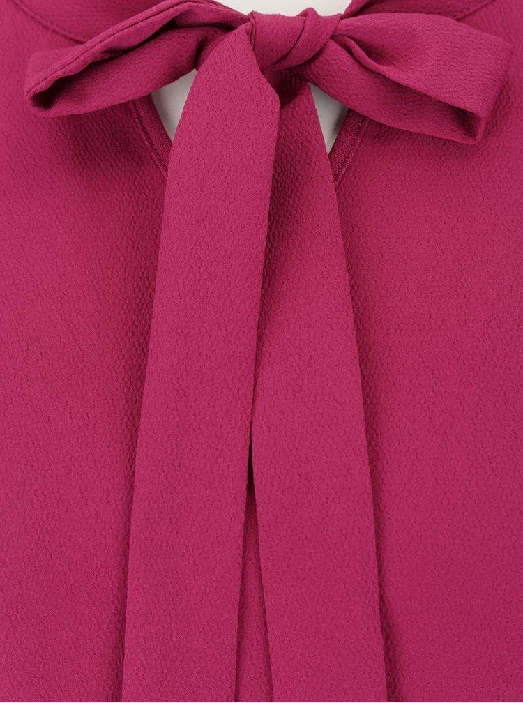 Tmavě růžová halenka s vázankou a dlouhým rukávem Rich & Royal