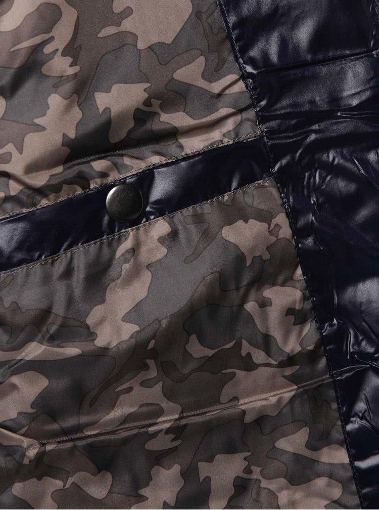 Tmavě modrá pánská prošívaná bunda Casual Friday