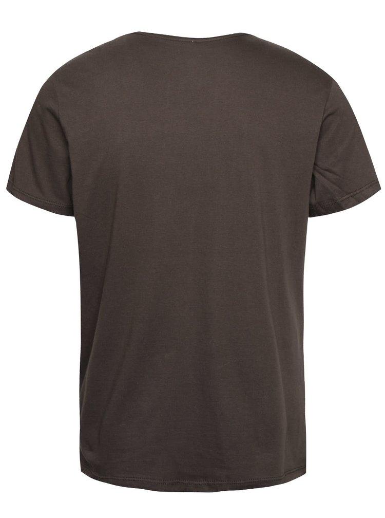 Tmavě zelené triko s potiskem Blend