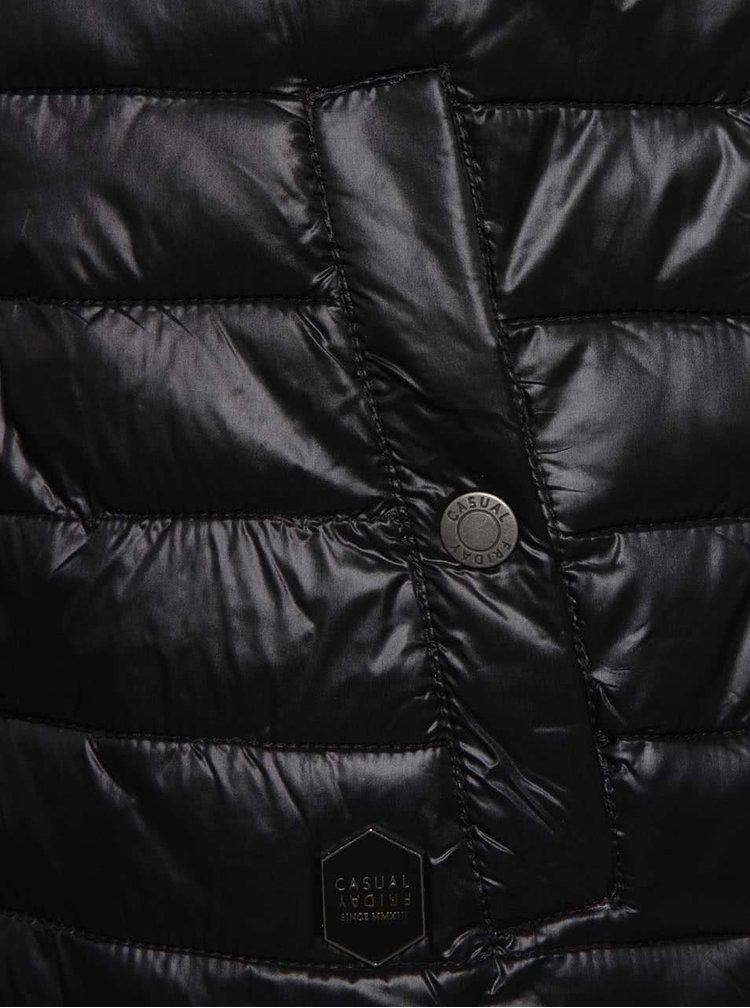 Černá pánská prošívaná vesta Casual Friday