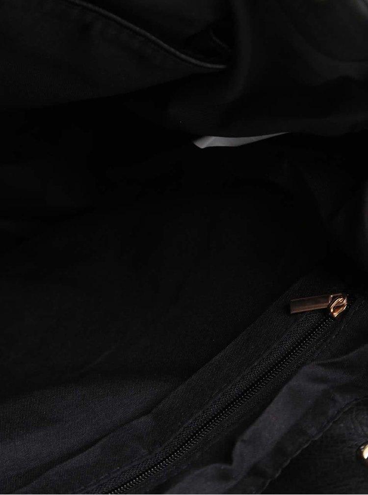 Čierna crossbody kabelka s farebným vzorom Haily´s Lara