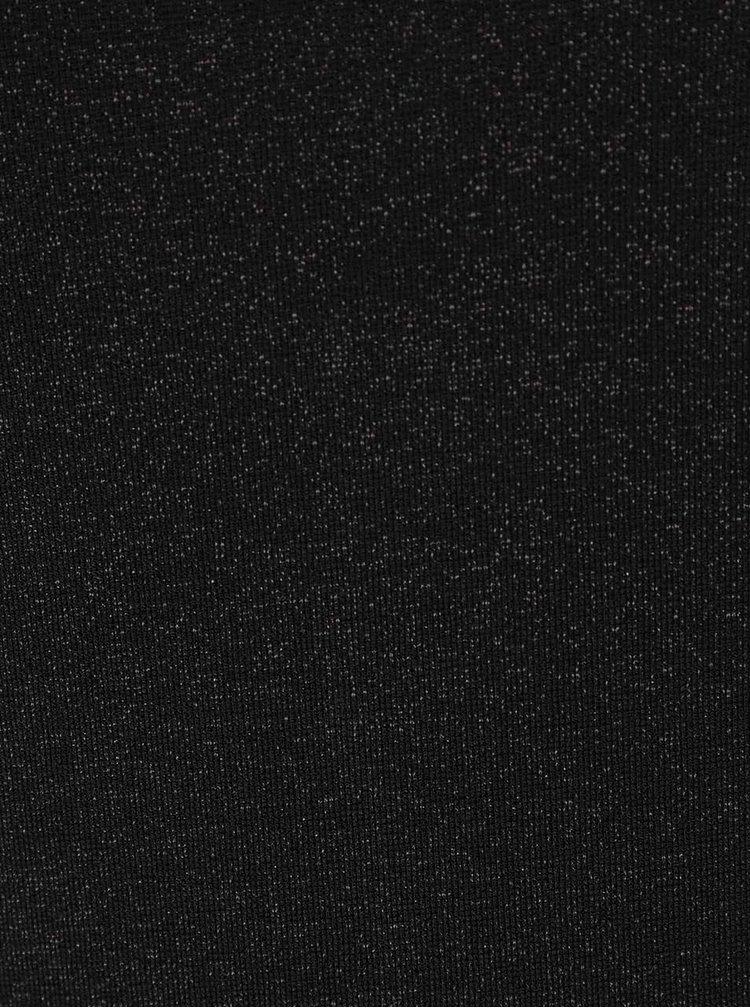 Bluză neagră Rich & Royal cu mâneci 3/4