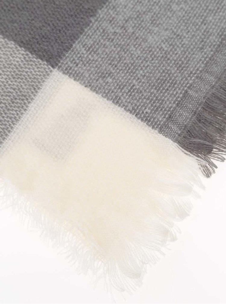 Šedo-černá károvaná šála Haily´s Lilly