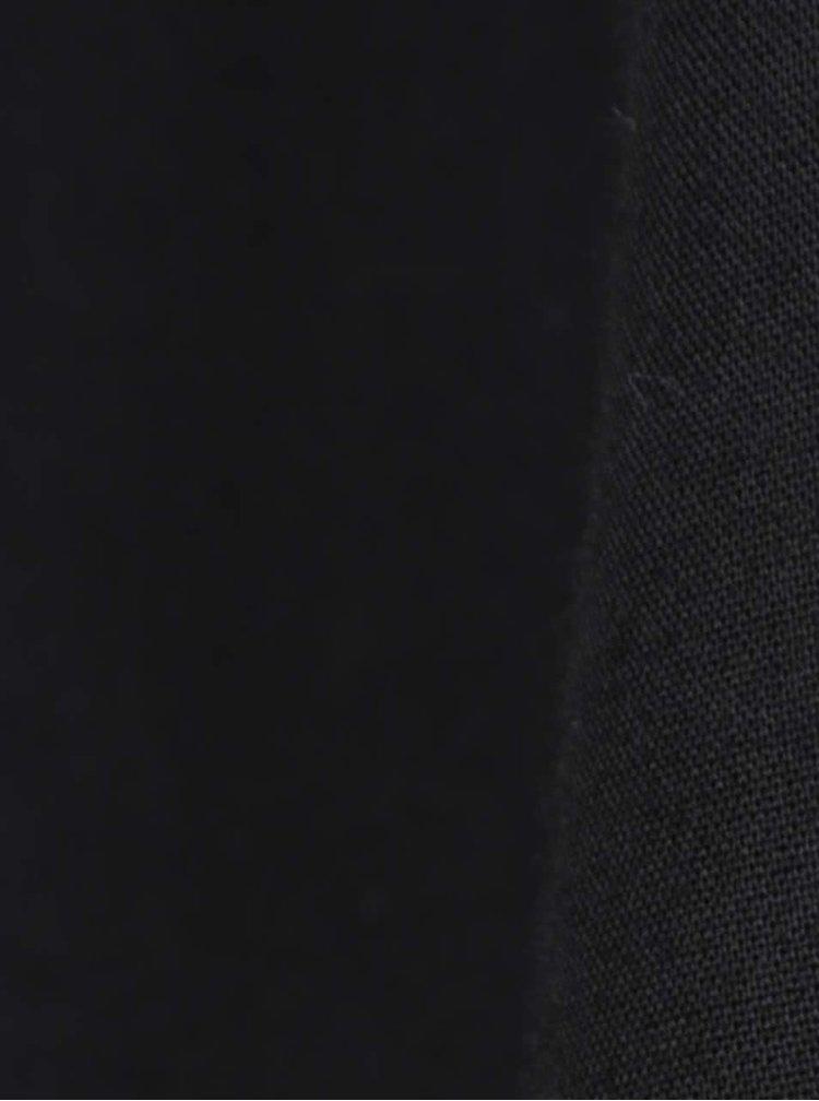Čierna blúzka s čipkovanými detailmi a výstrihom na chrbte VILA Meta