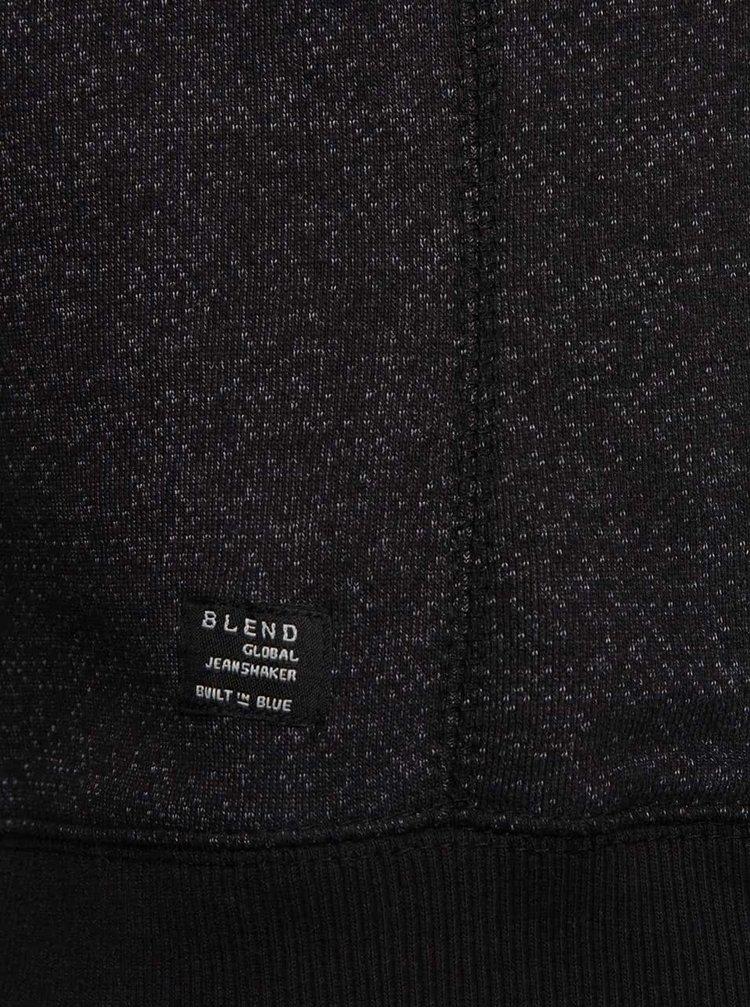Černá žíhaná mikina s vysokým límcem Blend
