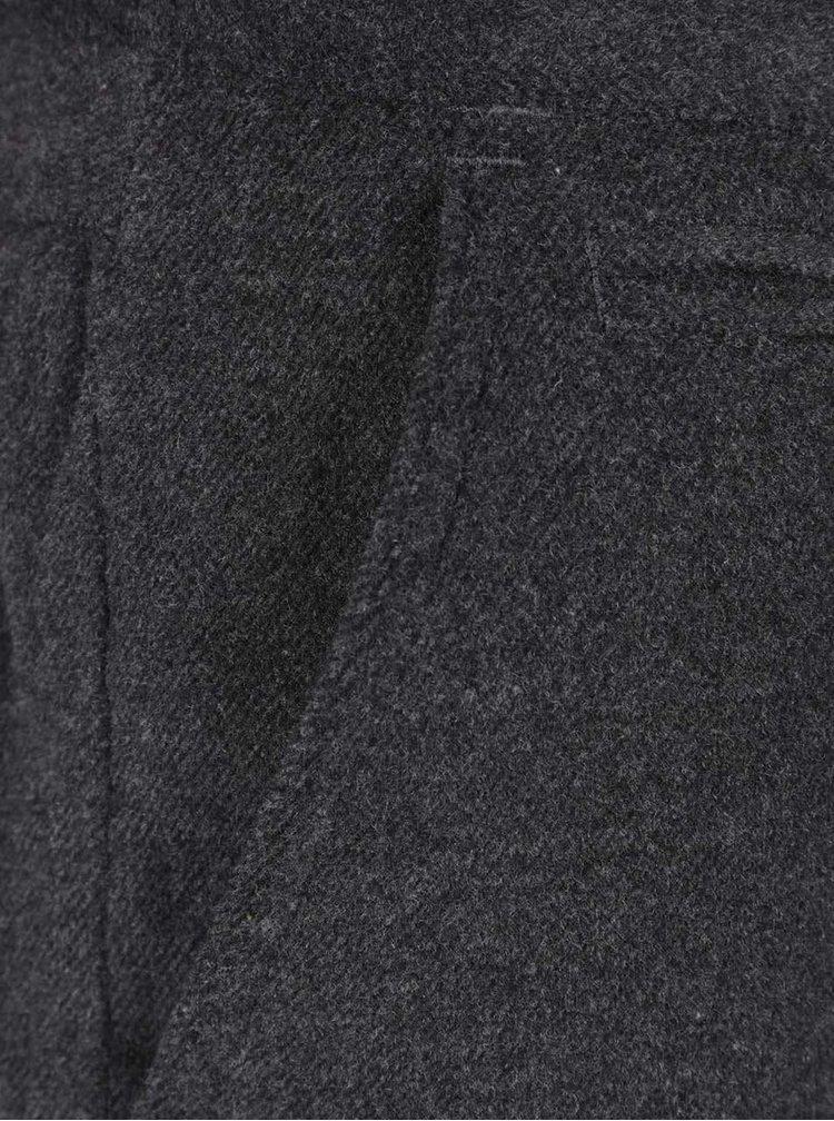 Šedé pánské kalhoty s příměsí vlny Casual Friday