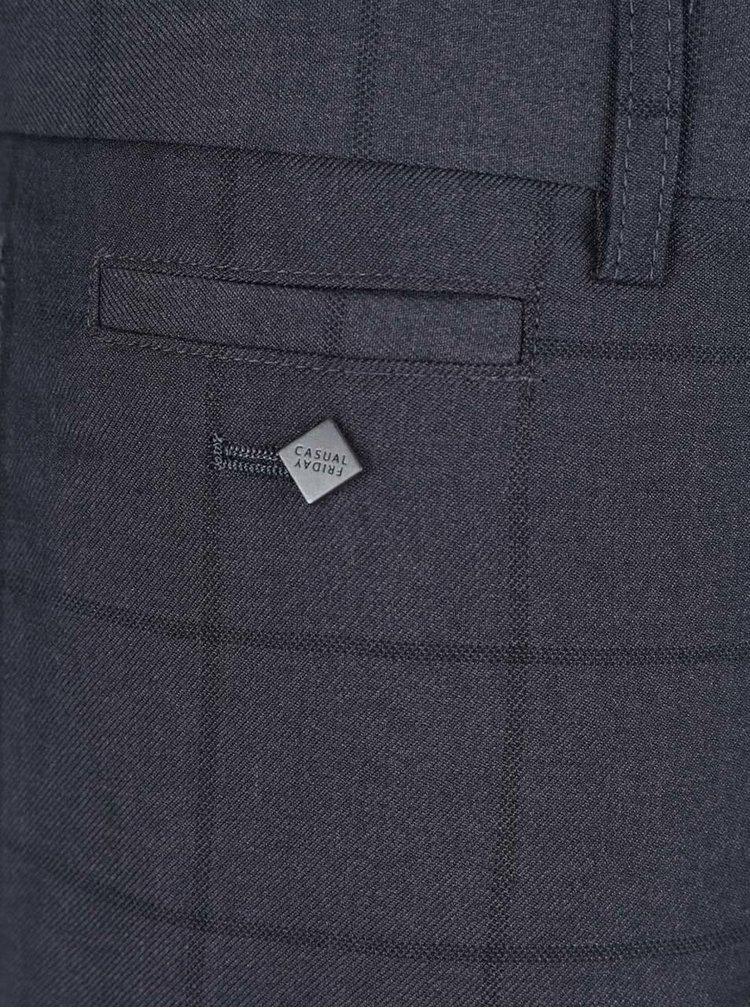 Pantaloni gri in carouri Casual Friday