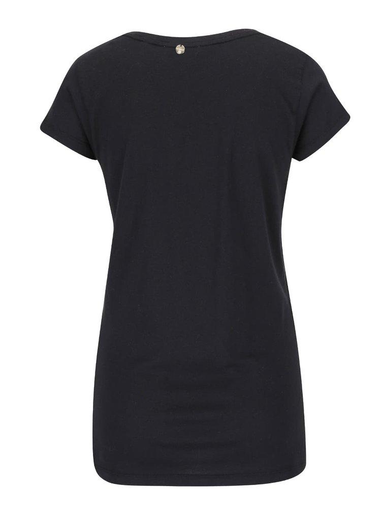 Čierne tričko s potlačou Rich & Royal