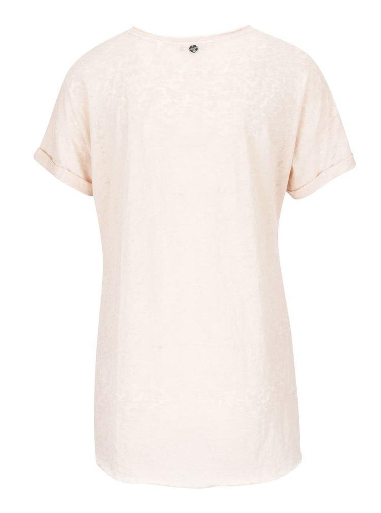 Světle růžové tričko s potiskem Rich & Royal