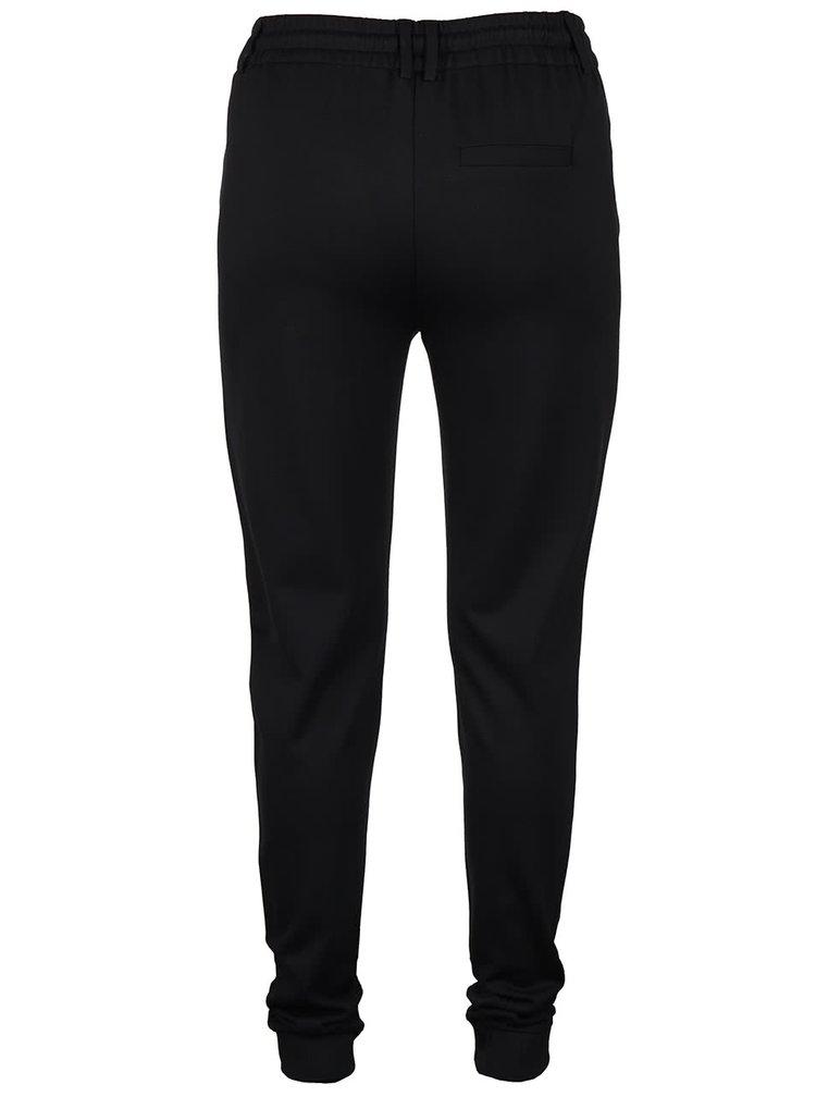 Čierne voľnejšie nohavice VILA Riasta