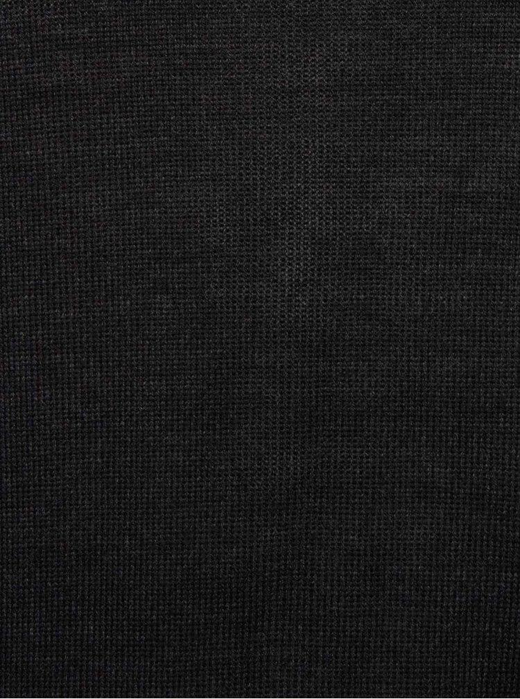 Tmavosivý pánsky vlnený sveter s rolákom Casual Friday