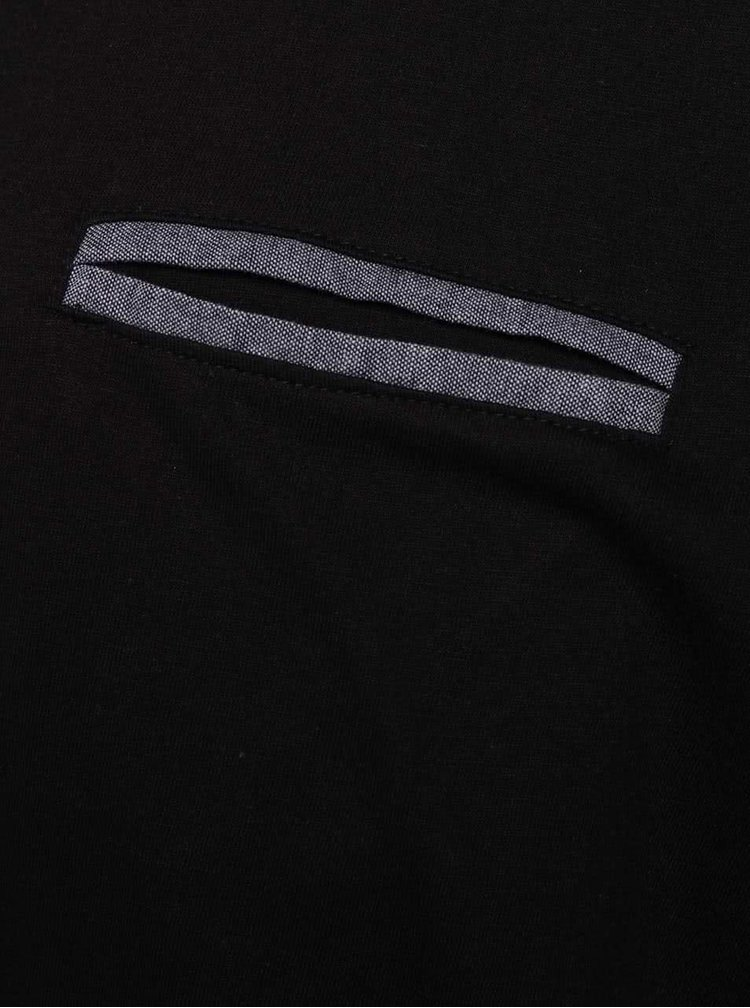 Černé pánské triko s dlouhým rukávem Casual Friday