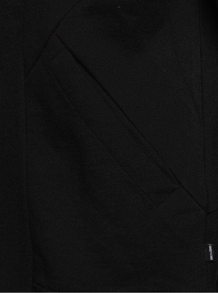Hanorac negru ONLY & SONS Firminho din bumbac cu închidere asimetrică