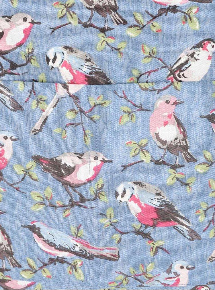 Modrá zástera s potlačou vtáčikov Cath Kidston