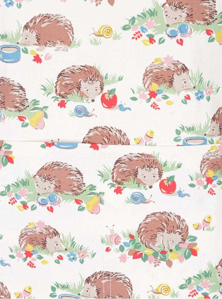 Krémová zástera s potlačou ježkov Cath Kidston