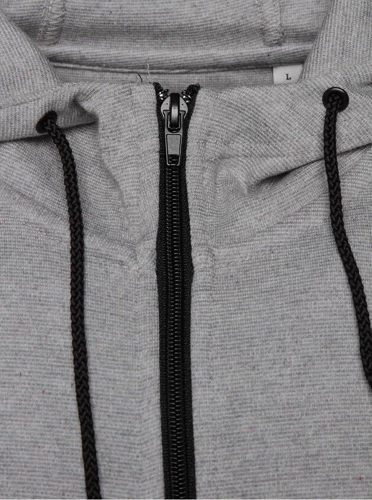 Šedá mikina na zip a s kapucí ONLY & SONS Holden