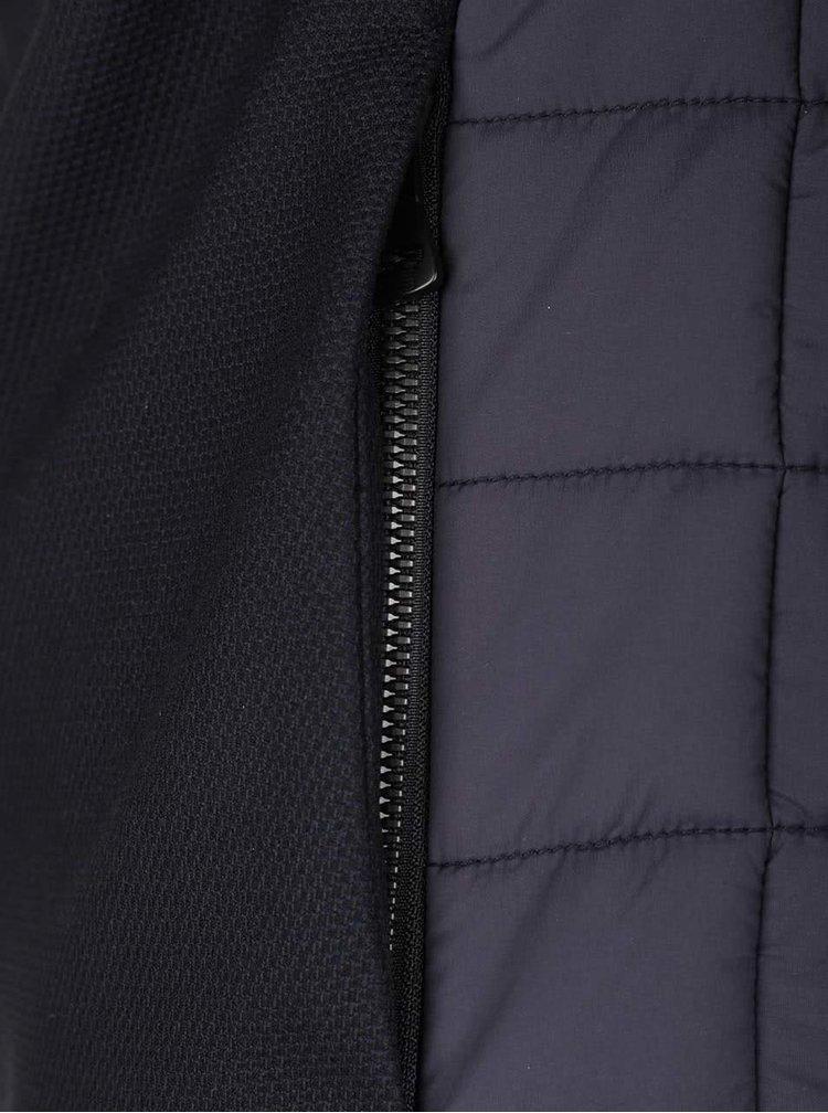 Modročierna pánska bunda s golierom a odnímateľnou kapucňou bugatti