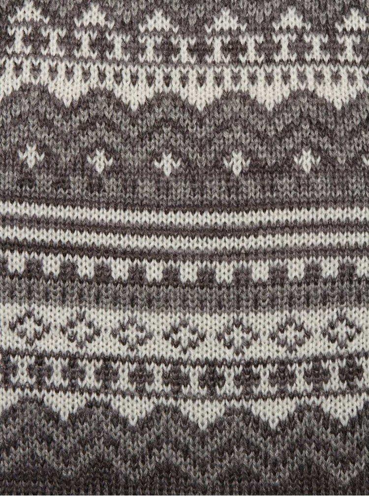 Šedý vzorovaný svetr Blend