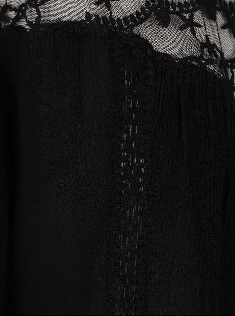 Černá halenka s krajkou PEP Fatima