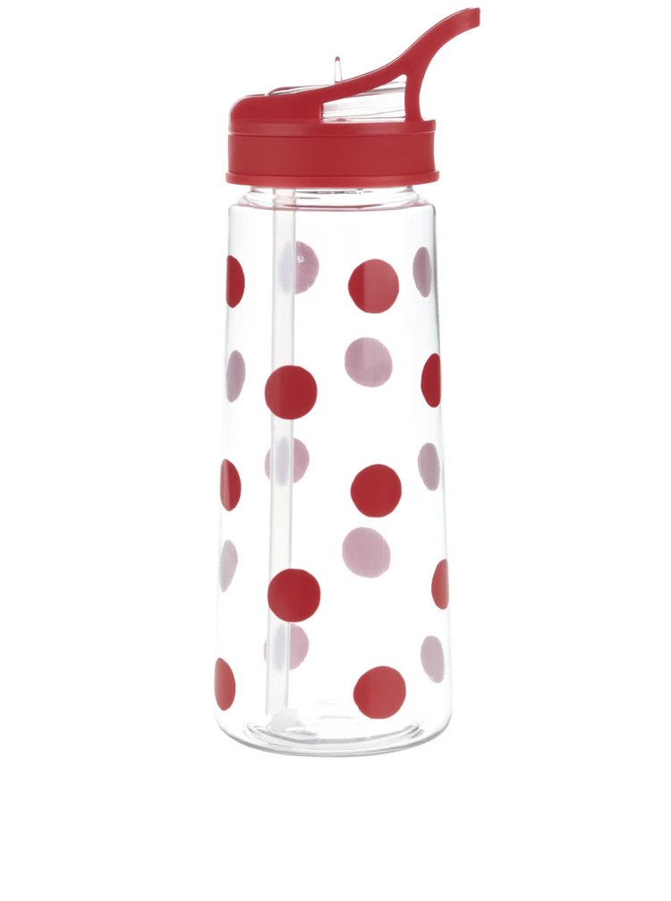 Červená bodkovaná fľaša na vodu Cath Kidston