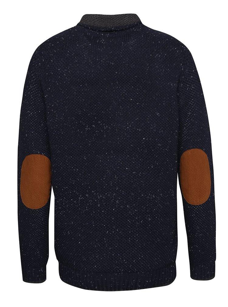 Tmavě modrý svetr s drobným vzorem Blend