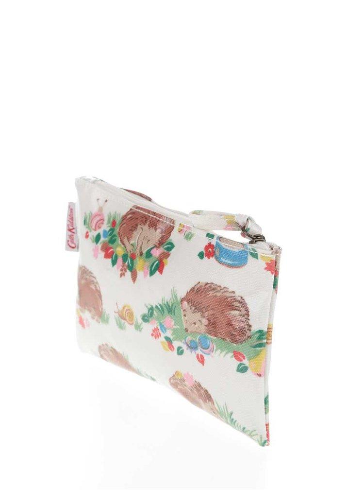 Krémová menšia taštička s potlačou ježkov Cath Kidston