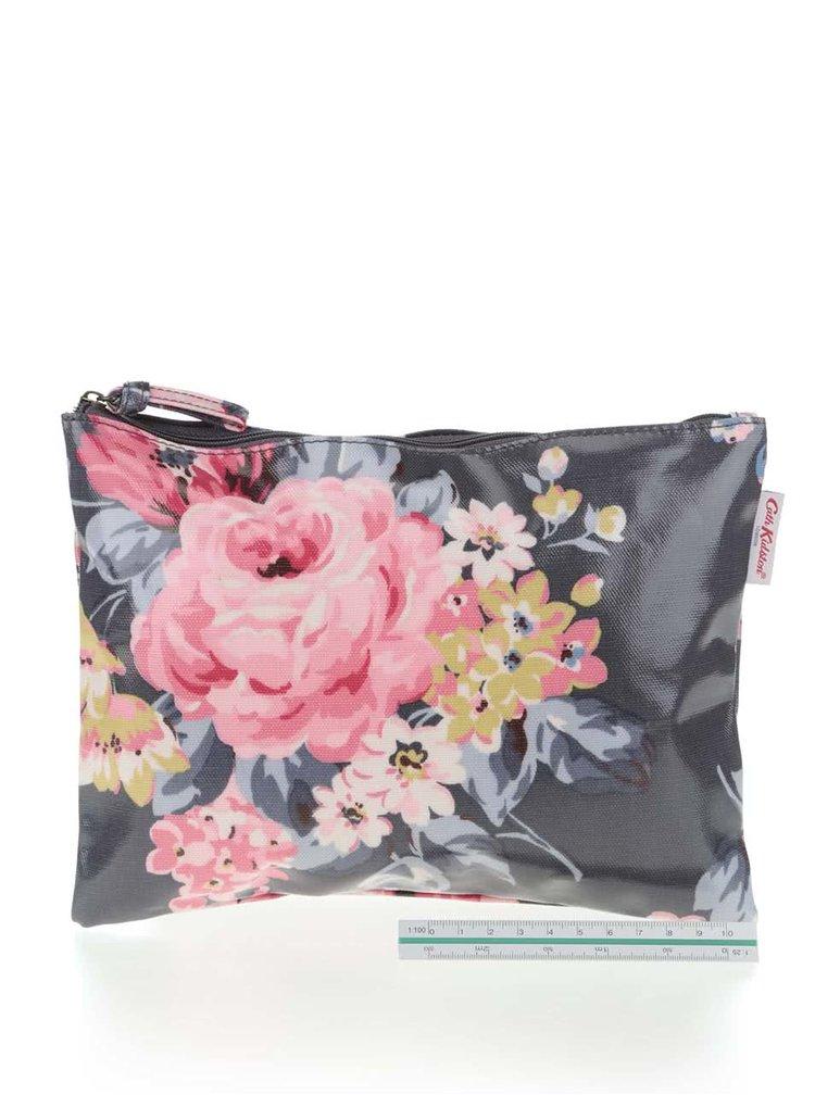 Tmavomodrá väčšia kvetovaná taštička Cath Kidston