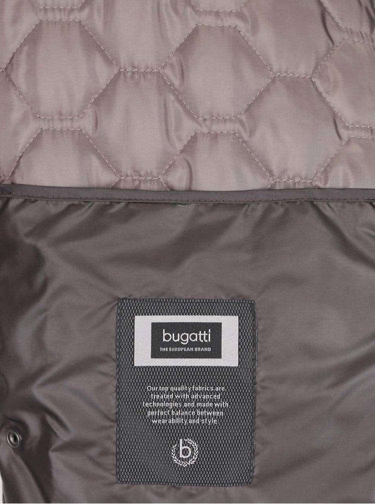 Hnědá pánská prošívaná vesta bugatti