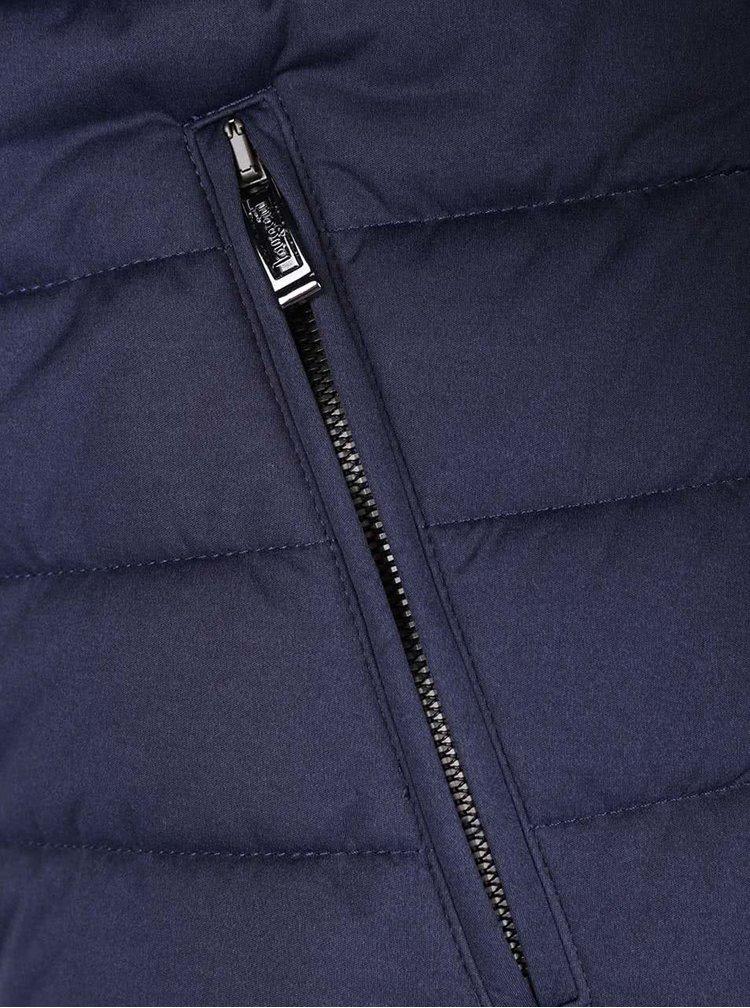 Tmavě modrá pánská zimní prošívaná bunda bugatti