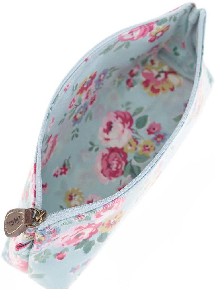 Světle modrý květovaný penál Cath Kidston
