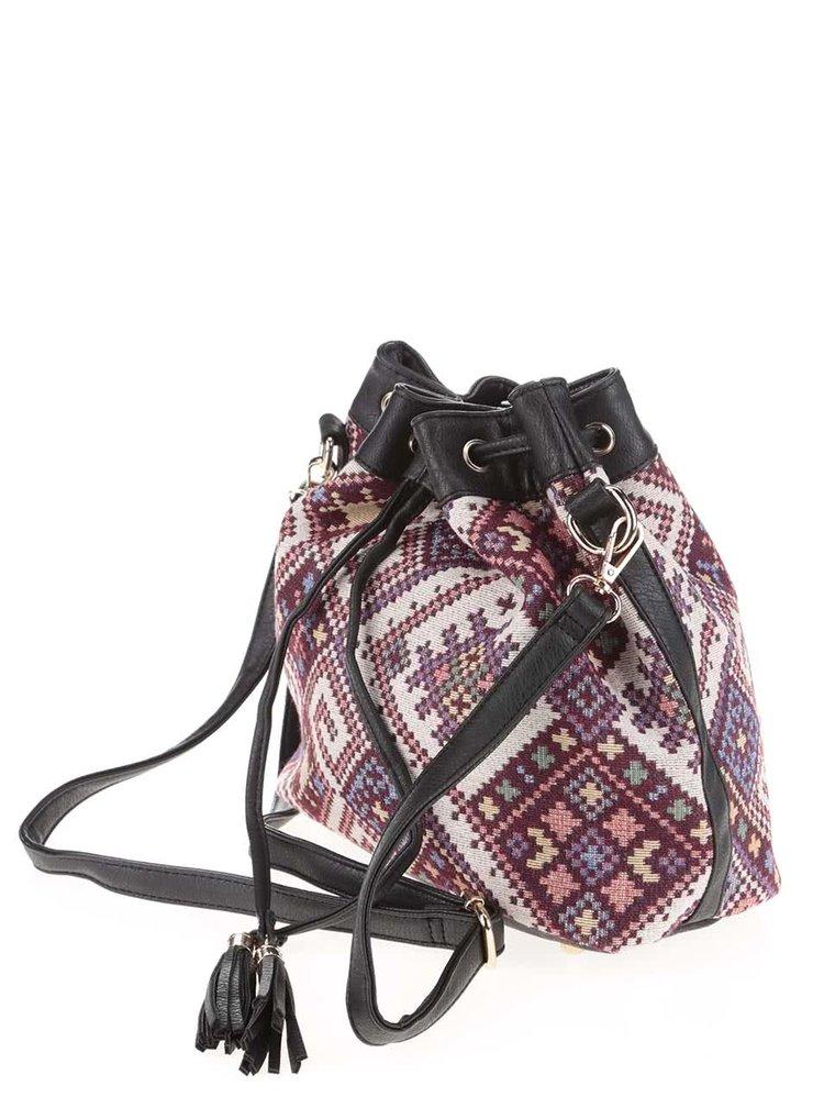 Vínová crossbody kabelka s barevným vzorem Haily´s Lara