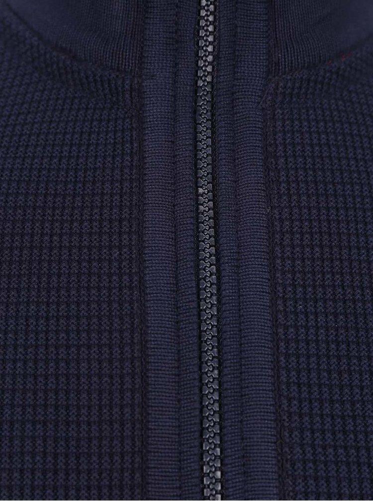 Pulover albastru inchis bugatti din bumbac