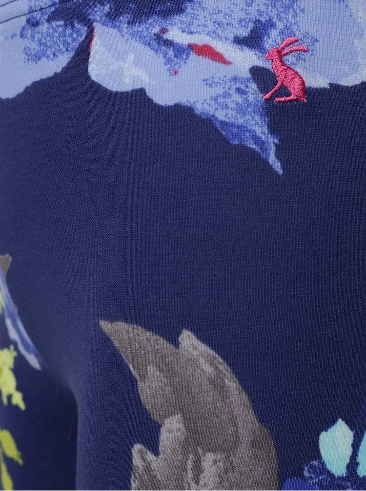 Colanți albaștri Tom Joule DeeDee cu model înflorat pentru fete