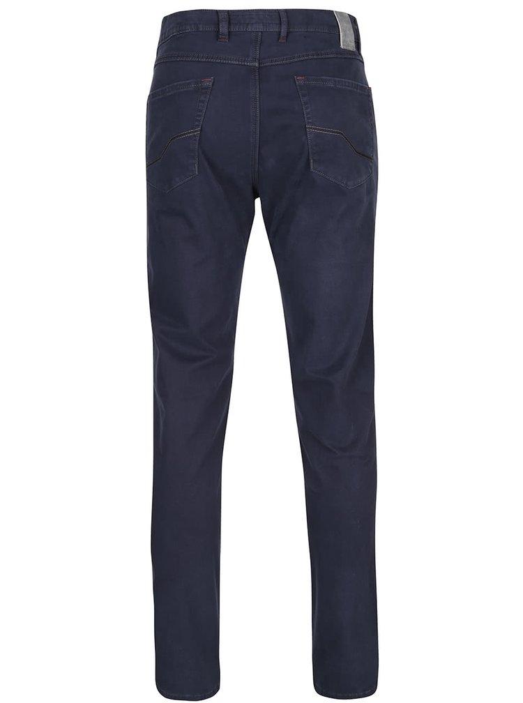 Modré pánské kalhoty s vyšisovaným dojmem bugatti