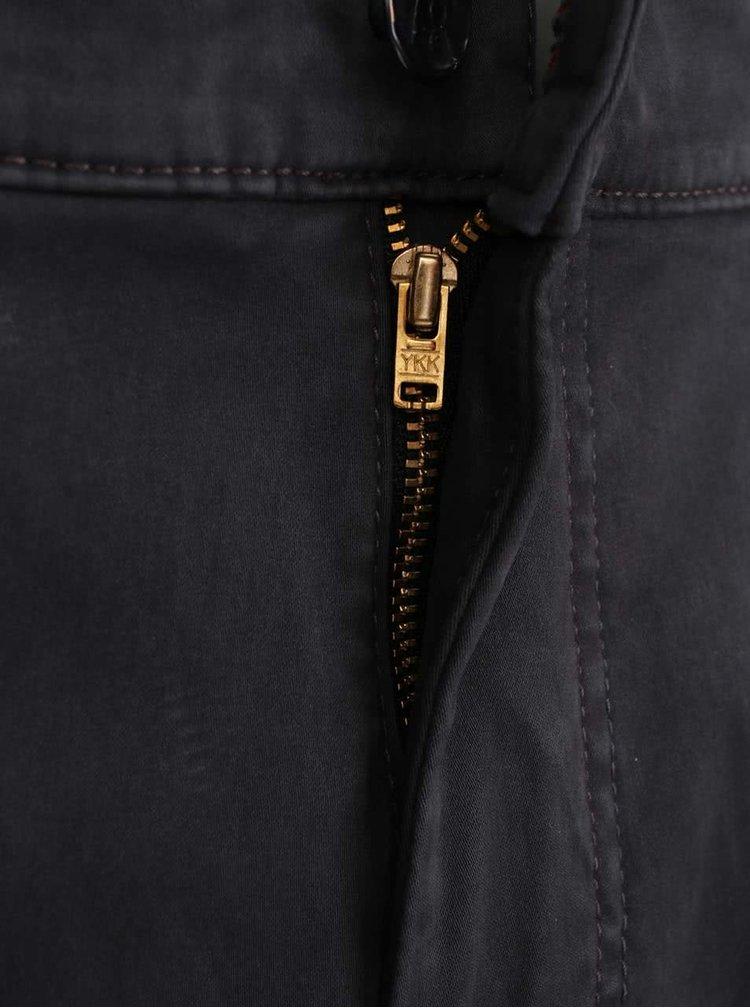 Šedé pánské kalhoty bugatti